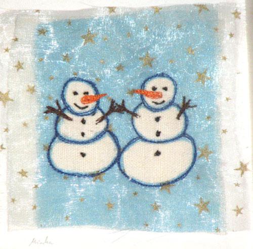 Snowman-organza
