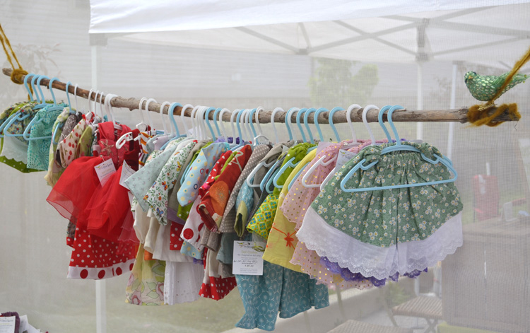 Doll-clothes-hanging